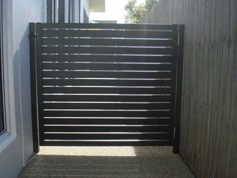 powder coated gate
