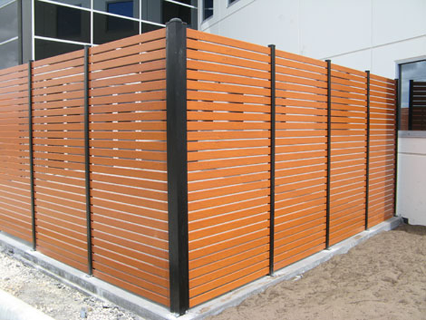 powder coated timber look slats