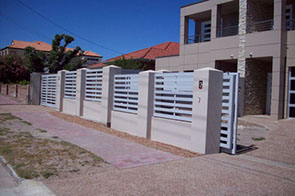 powder coated slat fence and gate
